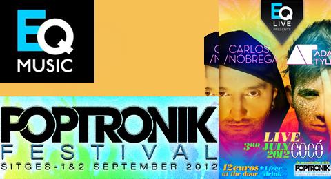 El festival Poptronik se pone en marcha con Carlos Nóbrega ( @carlosdnobrega ) y Adam Tyler ( @adamtylerx )