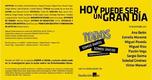 #HoyPuedeSerUnGranDía para ayudar a investigar las enfermedades raras @Todossomosraros