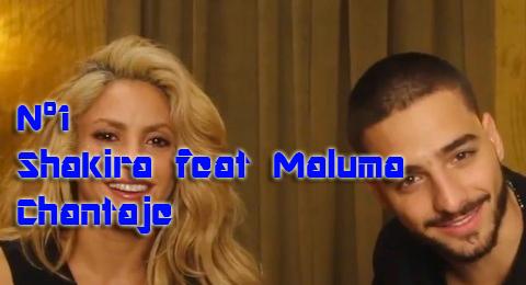 Lista Top Europa – 08/01/2017 El primer nº1 del año es para @Shakira feat @Maluma