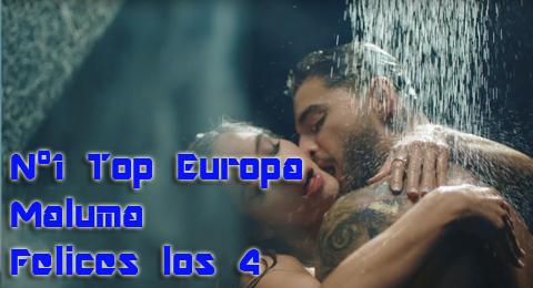 Lista Top Europa – 09/07/2017 Vamos a ser #FelicesLos4 en el nº1