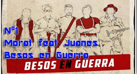 Lista Top Europa – 18-02-2018 @MoratBanda con @Juanes salen vistoriosos con sus #BesosEnGuerra