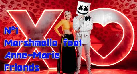Lista Top Europa – 17/06/2018 Marshmello feat Anne Marie celebran su amistad en el nº1